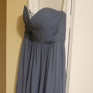 revelry dress worn once size 8 dusty blue